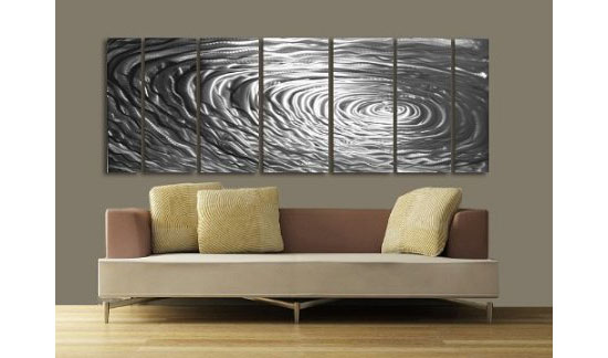 Accentuate Your Room With Ripple Effect Modern Abstract