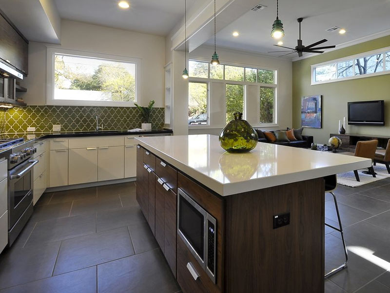 Square Shaped Kitchen Layout