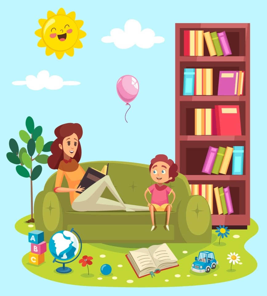 A graphical illustration of homeschooling