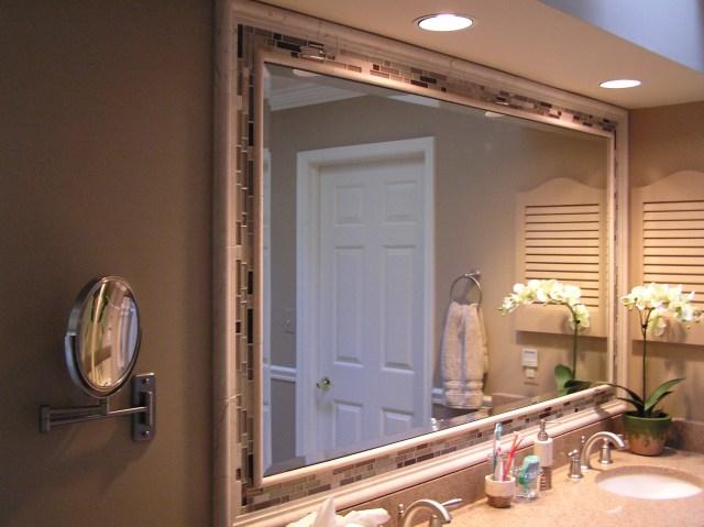 Diy bathroom mirror frame ideas large and beautiful photos