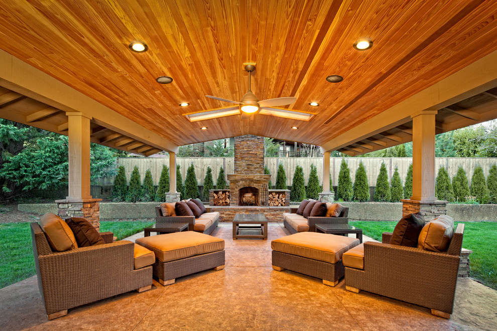 Backyard covered patio ideas - large and beautiful photos ... on Covered Patio Design Ideas id=39056