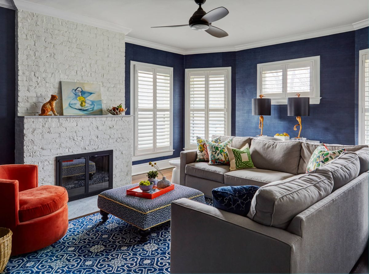 10 Grey Navy Living Rooms To Inspire Your Next Decorating Project The Homeenvy Members Club