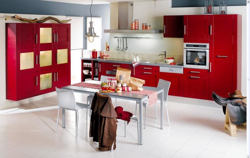 27 Thiết kế nhà bếp màu đỏ hoàn toàn tuyệt vời-1