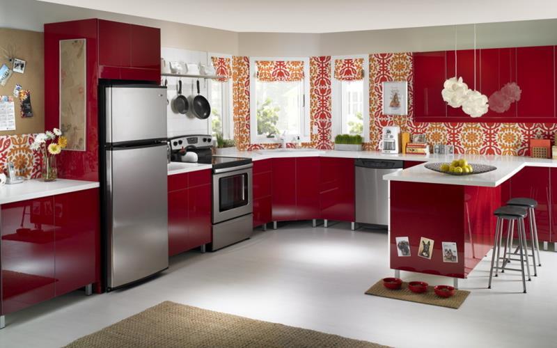 27 Thiết kế nhà bếp màu đỏ hoàn toàn tuyệt vời-15
