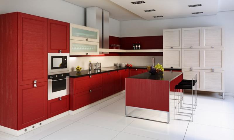 27 Thiết kế nhà bếp màu đỏ hoàn toàn tuyệt vời-16