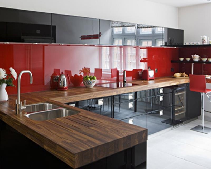 27 Thiết kế nhà bếp màu đỏ hoàn toàn tuyệt vời-6