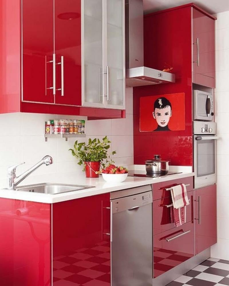 27 Thiết kế nhà bếp màu đỏ hoàn toàn tuyệt vời-9