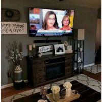 32 Best Farmhouse Living Room TV Stand Design Ideas 12