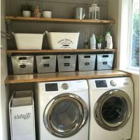 63 Smart Farmhouse Laundry Room Storage Organization Ideas 1