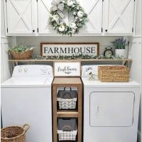 63 Smart Farmhouse Laundry Room Storage Organization Ideas 16