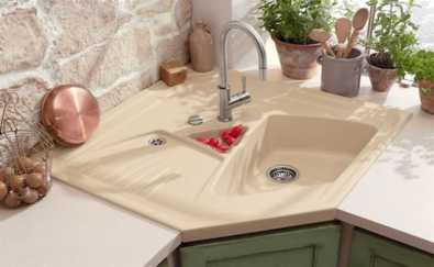 Beautiful Corner Kitchen Sink 0007