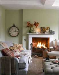 DIY Fall Living Room Decoration With Fireplace Ideas0001