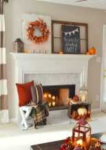 DIY Fall Living Room Decoration With Fireplace Ideas0002