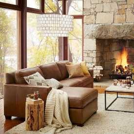 DIY Fall Living Room Decoration With Fireplace Ideas0005