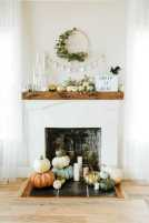 DIY Fall Living Room Decoration With Fireplace Ideas0024