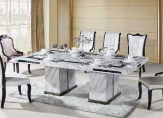 Marble Dining table Ideas – Source: fiin.info