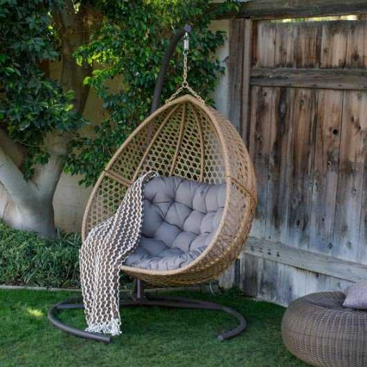 Teardrop Resin Wicker Chair