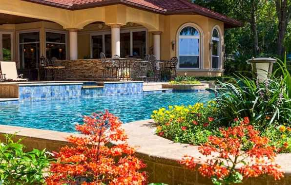 Mediterranean Style Home With A Mediterranean Style Pool