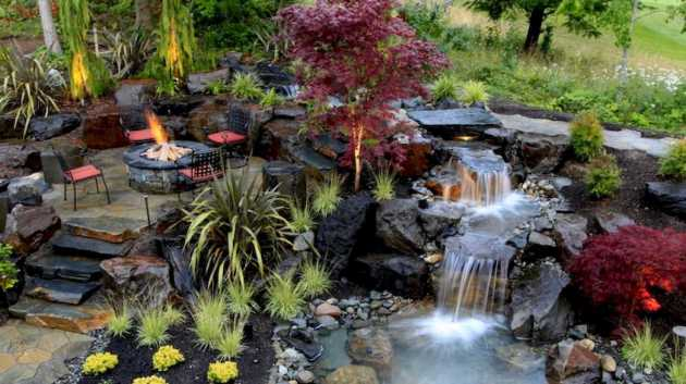 Can You Imagine Something More Relaxing Than Drinking A Glass Of Wine By The Fire Pit Listing To The Sound Of Falling Water
