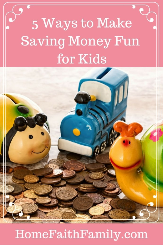 Help your child save their money with these 5 ways to make saving money fun for kids. #4 is sure to be a favorite. Click to read.