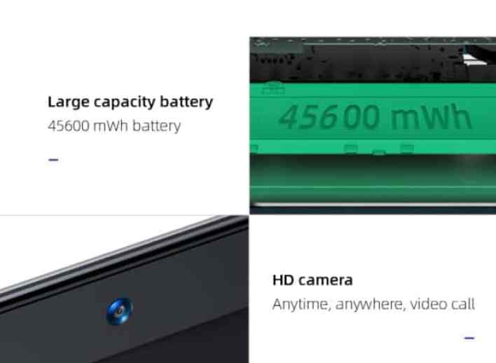 Dere TBook T10 battery