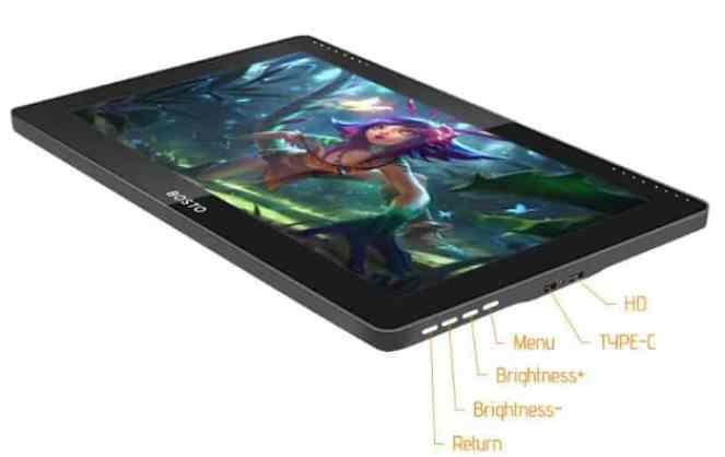 BOSTO 16HD Tablet design