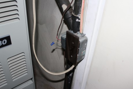 Shut the power off at the furnace or breaker box