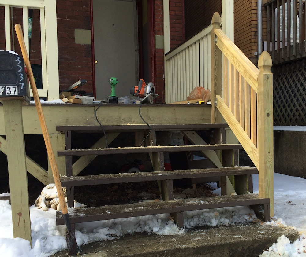 How to Build a Handrail For Your Porch   Safer Stairs In 20 hours ...