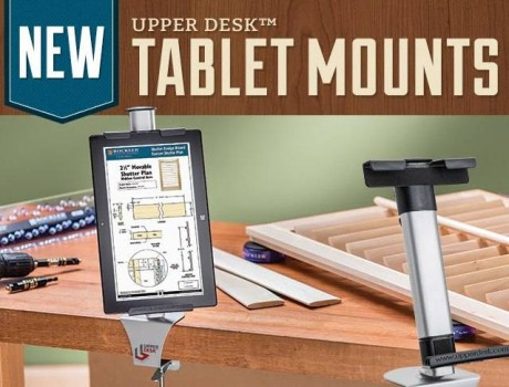 Keep your high tech from becoming low tech with this mount from Rockler