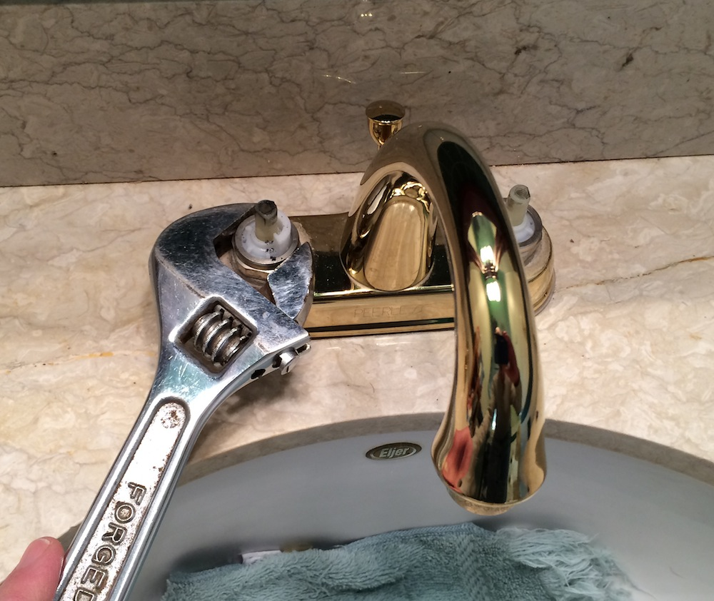 replacing a leaky bathroom faucet