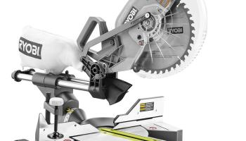 miter saw labeled. ryobi cordless sliding miter saw review - making one+one equal 36 labeled