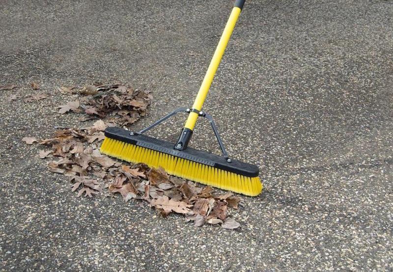 push broom landscaping tools