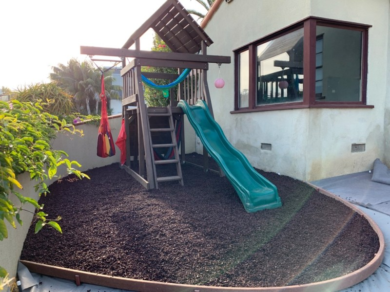 rubber mulch playground after