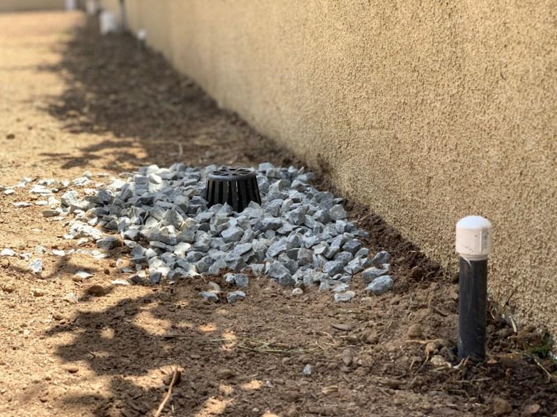 rubber mulch drainage