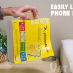 Make a convenient carrying handle for your phone book