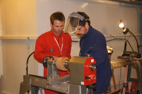This is what woodworking on a cruise ship looks like