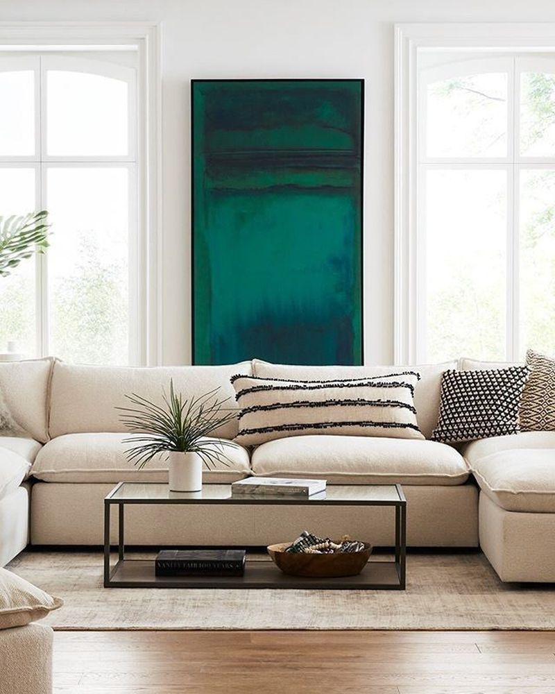 42 minimalist and modern living room wall art designs ideas