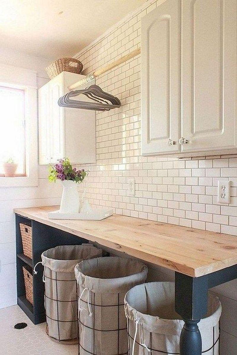 27 The Best DIY Small Farmhouse Laundry Room Ideas 27 - Homeflish