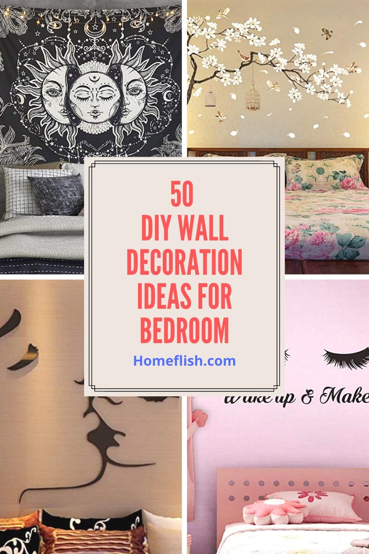 50 Diy Wall Decoration Ideas For Bedroom Homeflish