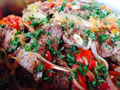 Beef steak Entomatado