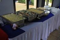 Momento de Preparacion del servicio del Almuerzo en el AuditorioSalomon de la Selva de la Uni