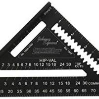 Johnson Level & Tool 1904-0700 7-Inch Johnny Square, Professional Easy-Read Aluminum Rafter Square w/out Manual