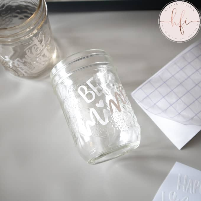 adding cricut words to jar