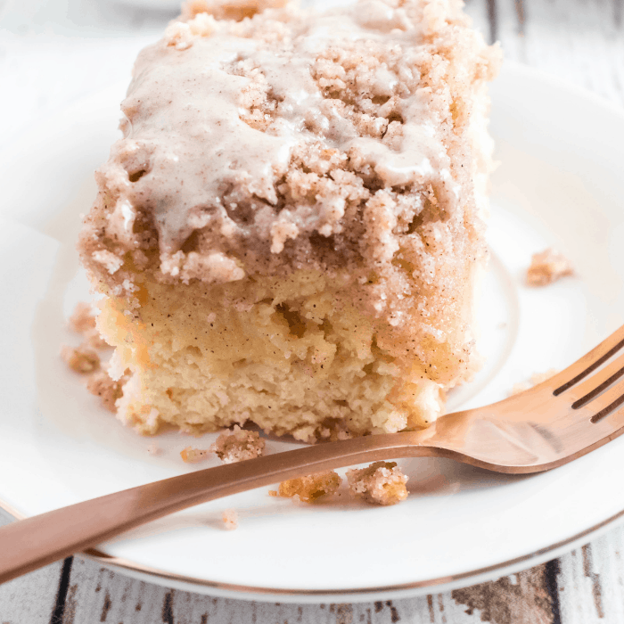 The Best Sour Cream Coffee Cake | Sour cream coffee cake is soft, has a tender crumb, and will win over a crowd. It's easy to make, and goes well with a hot cup of coffee or tea. #coffeecake #breakfast #brunch #recipe #homefreshideas