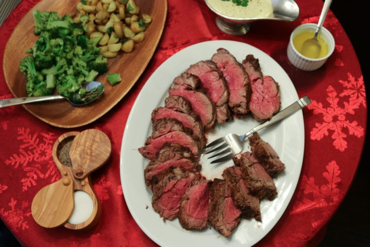 Spice Rubbed Beef Tenderloin with Creole Mustard Sauce