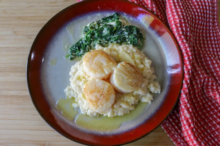 Brown Butter Scallops and Risotto-9374