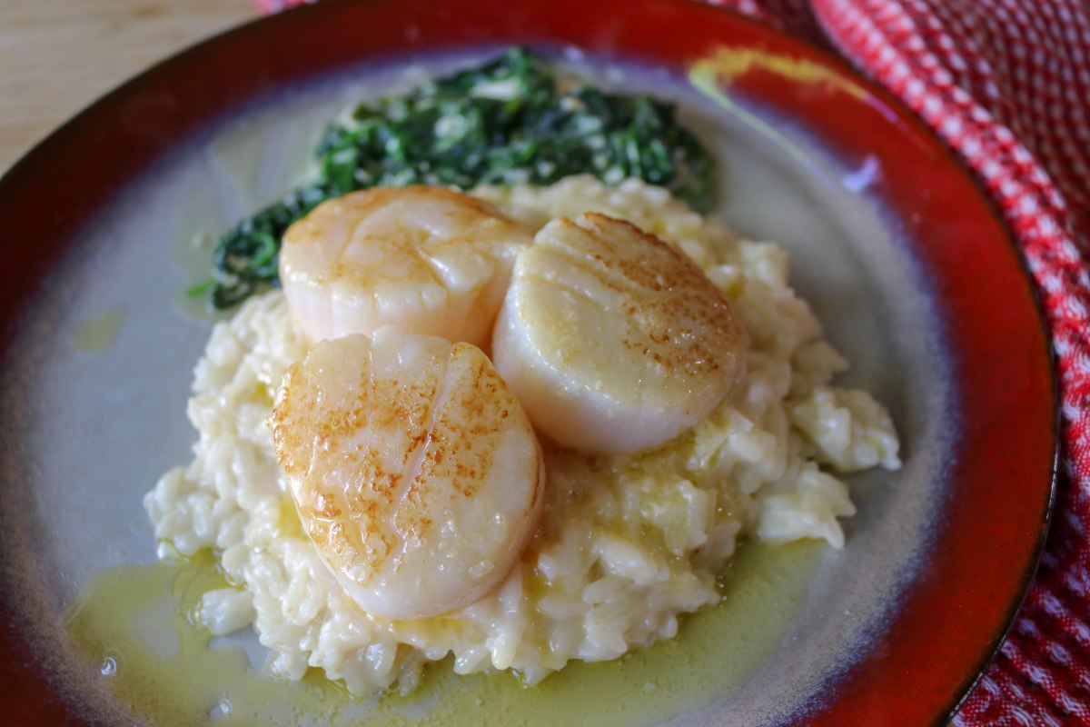 Brown Butter Scallops and Risotto-9375