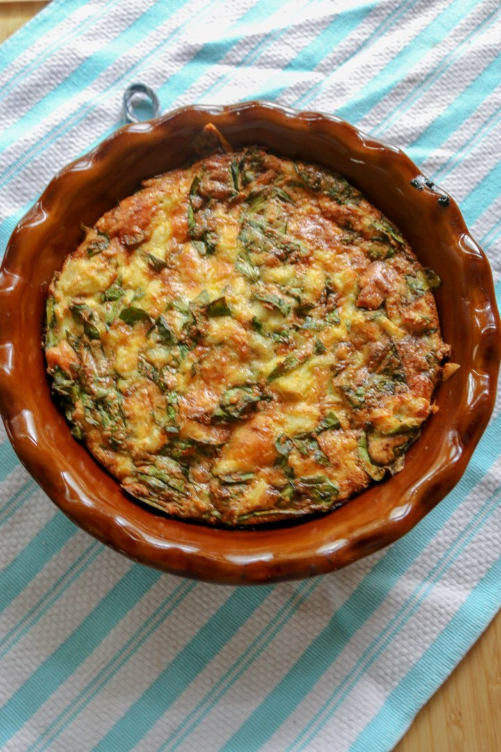 Crab and Spinach Quiche-9408