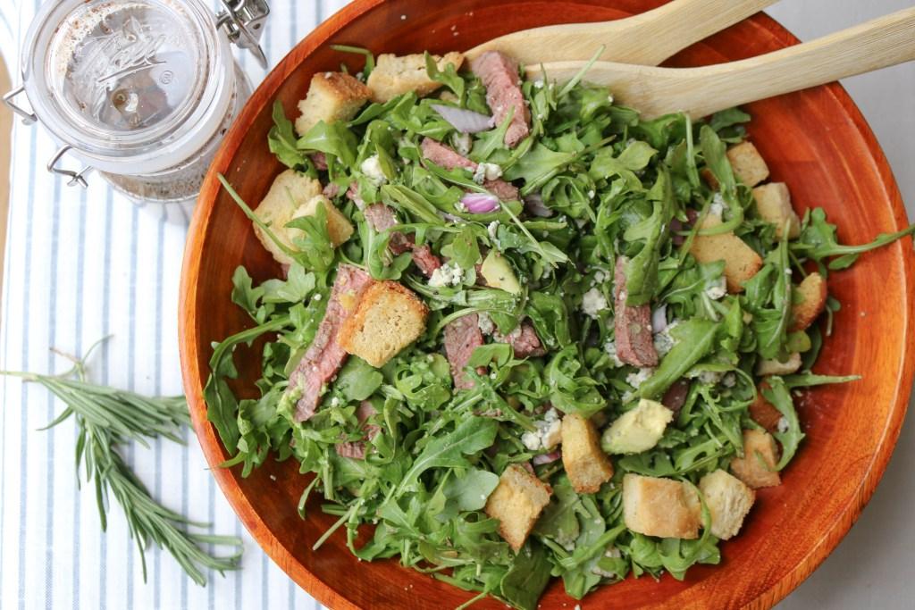 fresh arugula steak salad