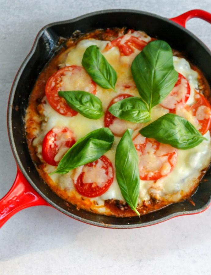 Sausage Caprese Skillet Pizza